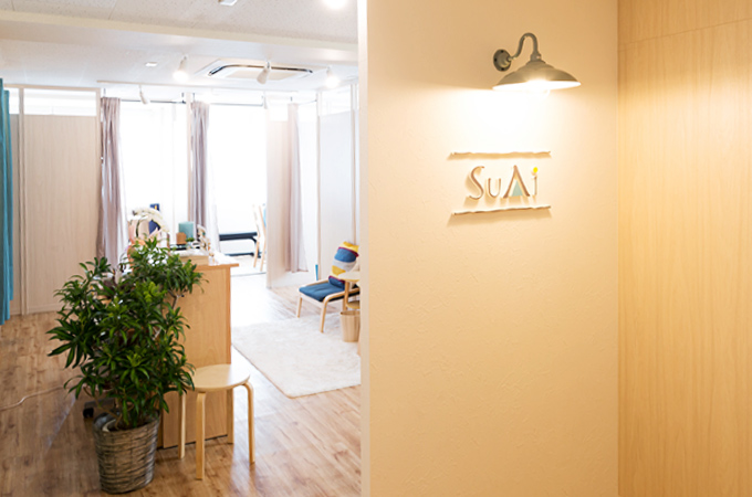 パーソナルトレーニングスタジオ SuAi 調布店 入口です