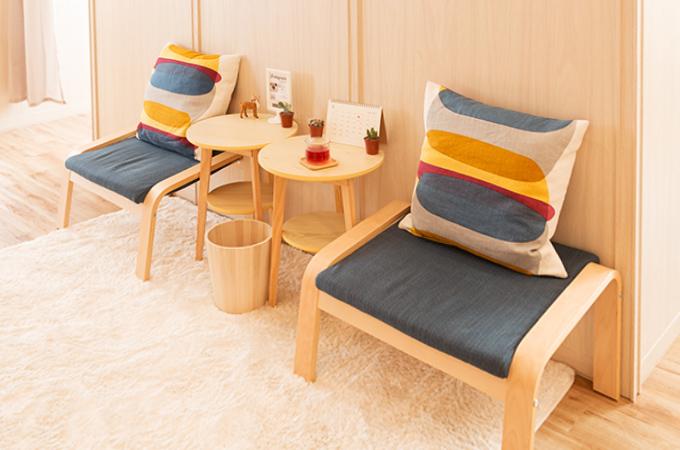 パーソナルトレーニングスタジオ SuAi 調布店 お茶スペースです
